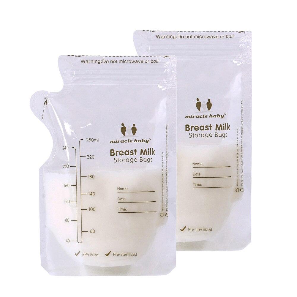 Bolsas de almacenamiento de leche materna de almacenamiento de alimentos para bebés,...