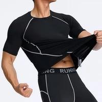 fitness t shirts compression t shirt training men workout quick drying sport gym clothing running short sleeve t shirt men 2021