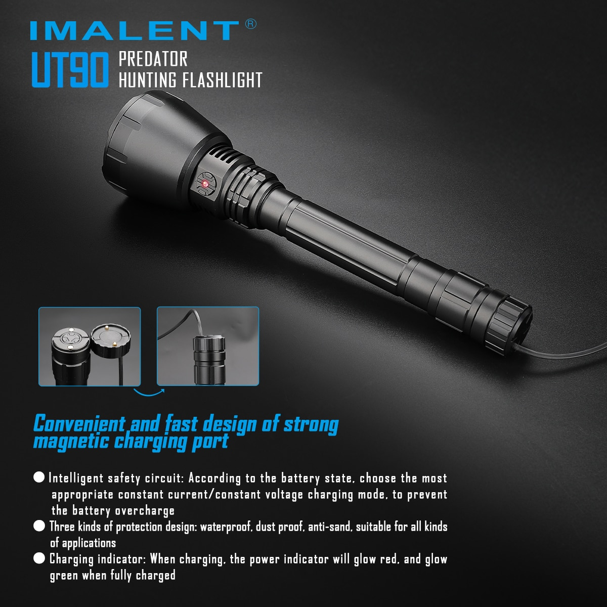 IMALENT UT90 KIT Tactical Flashlight 4800Lumens Powerful Lantern Self Defense Outdoor Lighting Weapons For Hunting Rechargeable enlarge