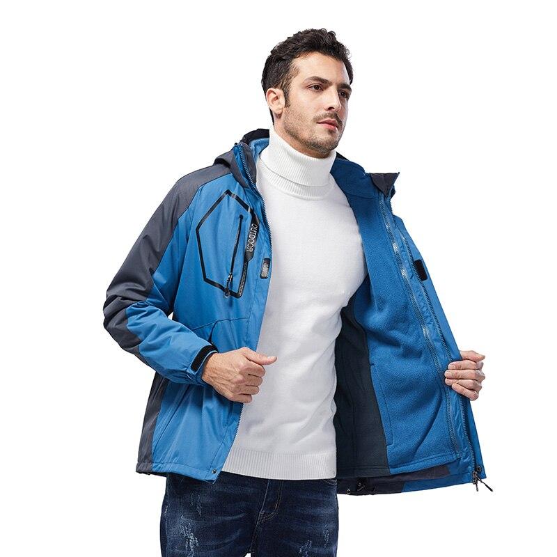 Chaqueta impermeable al aire libre ropa de senderismo chaqueta Softshell 3 capas tejido de recubrimiento de PU chaqueta de senderismo ropa impermeable ligera