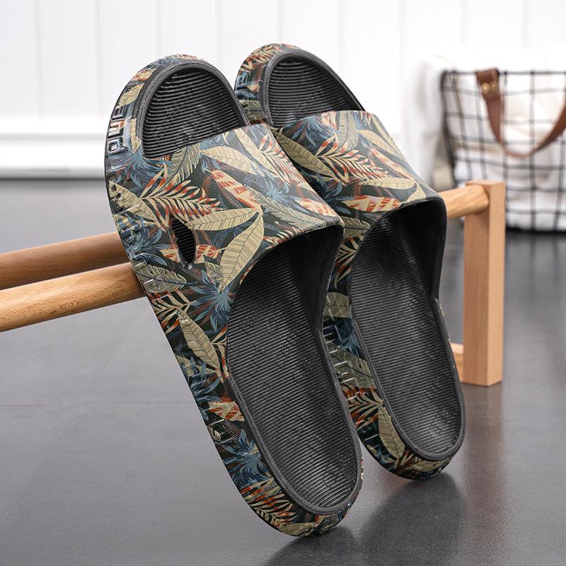2021 Summer New Men's Trend Slippers Non-slip EVA Massage Household Sandals Breathable Beach Shoes
