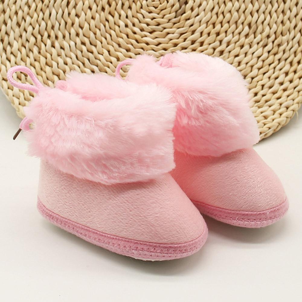 Niño recién nacido sólido lana botas de suela suave nieve Prewalker Zapatos...