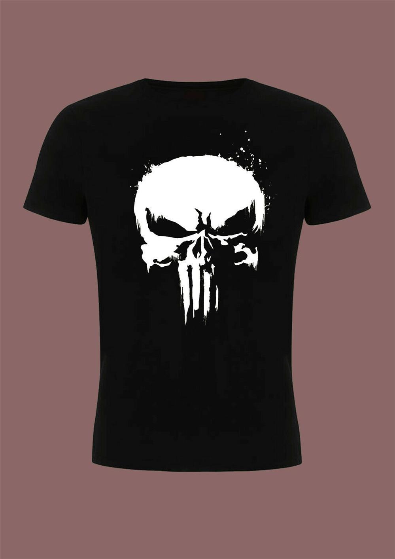 Camiseta con diseño de calavera Punisher de Marvel Daredevil, Iron Man, camiseta inspirada por los Vengadores para hombre y mujer