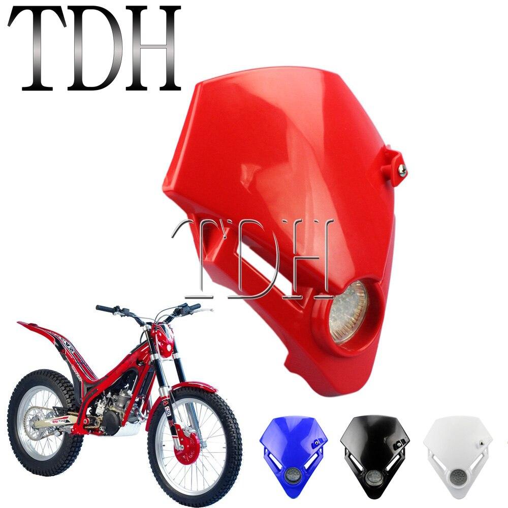 Faro delantero LED rojo para motocicleta, Supermoto, Gas, TXT Pro, EC 280,...