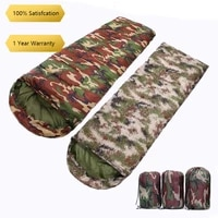 2400g thickened warm outdoor camping camping camouflage sleeping bag adult envelope with cap sleeping bag outdoors