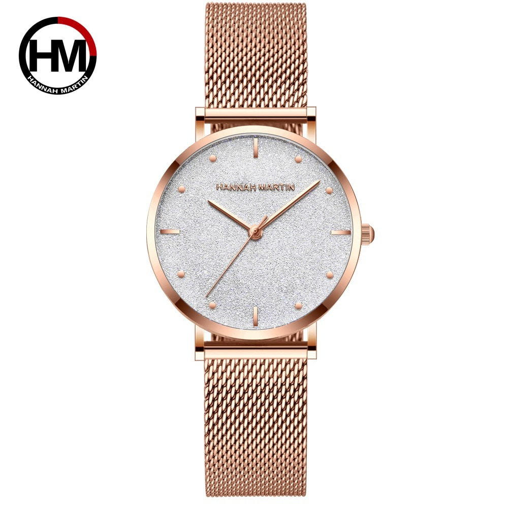 Unique Women's Watches Flash Shinning Stars Stainless Steel Rose Gold Ladies Simple Quartz Waterproof Women's Wristwatches Clock enlarge