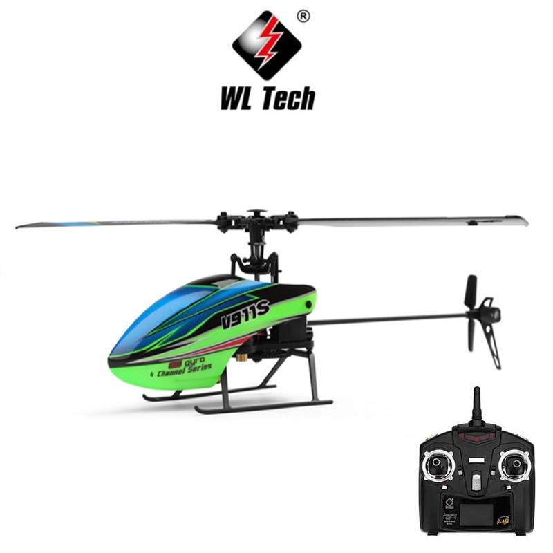 WLtoys V911S RC Helicopter 2.4G 4CH 6-Aixs Stunt Gyroscope Flybarless RTF 3.7V 250MAh RTF BNF Model Toys Lipo Battery RC Airplan wltoys v911s rc helicopter 2 4g 4ch 6 aixs stunt gyroscope flybarless rtf 3 7v 250mah rtf bnf model toys lipo battery rc airplan