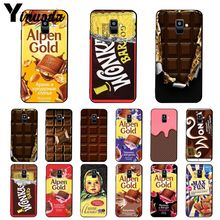 Yinuoda Wonka Bar Ticket Dor Alpen Or chocolat Téléphone étui pour samsung Galaxy A7 A50 A70 A40 A20 A30 A8 A6 A8 Plus A9 2018
