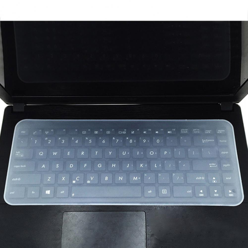 Ультратонкий силиконовый защитный чехол для клавиатуры для ноутбука 14/15 дюймов прозрачная защитная пленка