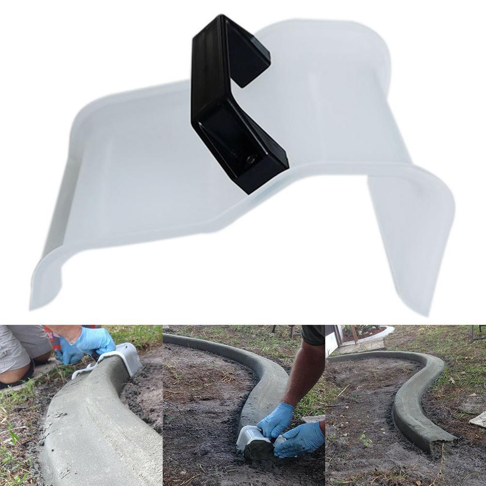 Diy paisagem jardim forma freio ferramenta telha revestimento concreto espátula com alça ergonômica torna confortável para segurar.