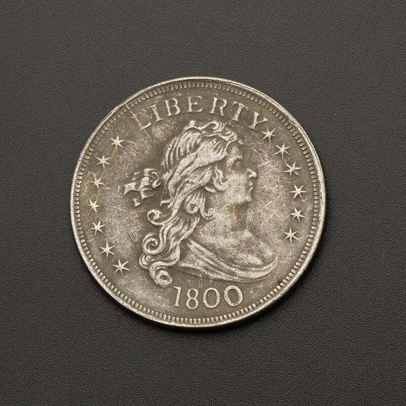 Monedas estadounidenses, Dólar de comercio, copia de monedas 1880 chapadas en plata para colección de monedas antiguas de regalo