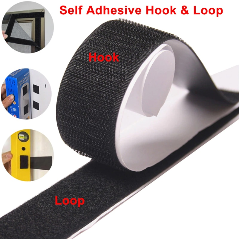 1M Velcros Adhesive Hook and Loop Self-adhesive Fastener Tape Sticker Magic with Glue 16-110mm