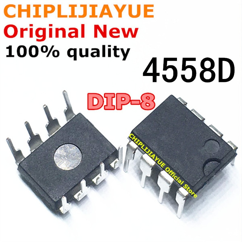 20-50 Uds 4558D DIP8 RC4558P JRC4558D DIP 4558 RC4558 DIP-8 nuevo y original IC Chipset