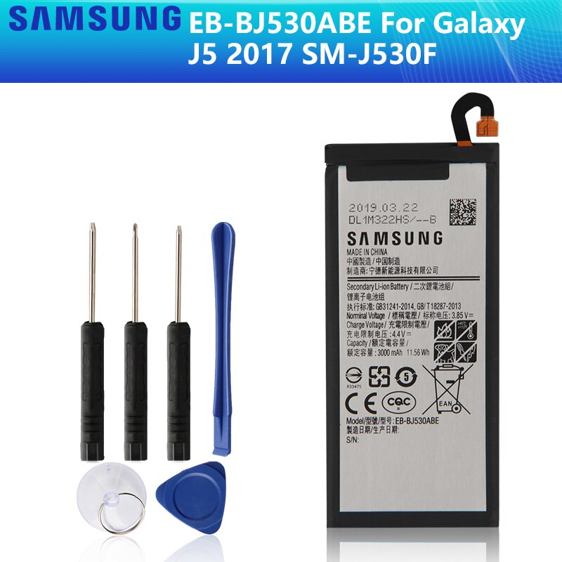 SAMSUNG 100% original batería EB-BJ530ABE para Samsung Galaxy J5 2017 SM-J530F edición 2017 J530F J530G