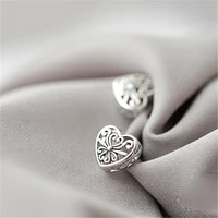 factory price silver color hollow heart earrings retro ethnic stud earrings fashion jewelry wholesale
