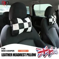 Car Neck Pillow Union Jack Seat Neck Headrest Pillows Car-styling For mini cooper F54 F60 F55 F56 F57 R61 R60 R59 R58 R57 R55