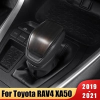 abs car interior gear head shift knob protection cover trim sticker protective accessories for toyota rav4 xa50 2019 2020 2021