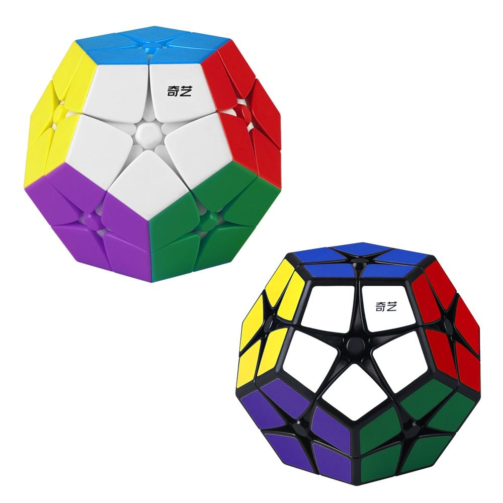 Qiyi 2x2 megaminxes cubo mágico 12 faces dodecaedro quebra-cabeça cubo mágico brinquedos educativos qiyi velocidade cubo para crianças