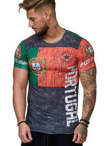 2020 New Portugal Flag Jerseys Men Shirts Portugal Soccer Jersey T Shirt Top Quality Breathable Sportwear Iptv Portugal T-shirt