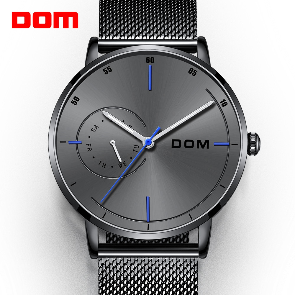 Mens Waterproof Watches Leather Strap Slim Quartz Casual Business Mens Wrist Watch Top Brand Male Clock 2019 Fashion yelang v1021 aviator serier t100 tritium tubes flourescent numbers 100m waterproof leather strap mens quartz wrist watch