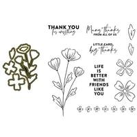 clear stamps and cutting dies thank you little card flowers life is better for diy scrapbook photo album craft card 2021 new