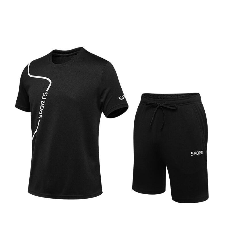 Aoliwen marca 2 pçs/set masculino treino ginásio de fitness badminton esportes terno roupas jogging esporte wear exercício treino esportiva