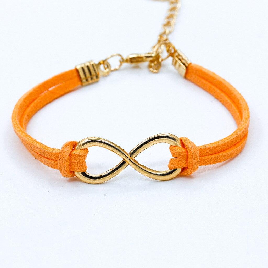 Boho quente punk bijoux moda vintage infinity 8 pulseiras de couro para mulheres presente atacado pulseiras de jóias masculinas por atacado