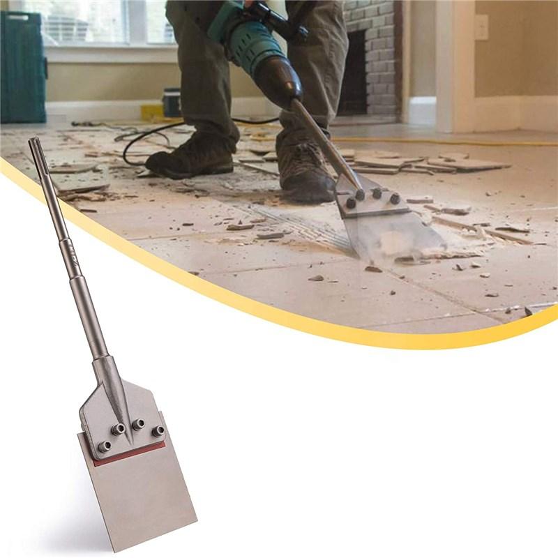 6 Inch Floor Chisel Bit Blade Scraper Tile Grout Adhesive Wallpaper Thinset Wood Linoleum Flooring Removal Tool Universal Drills