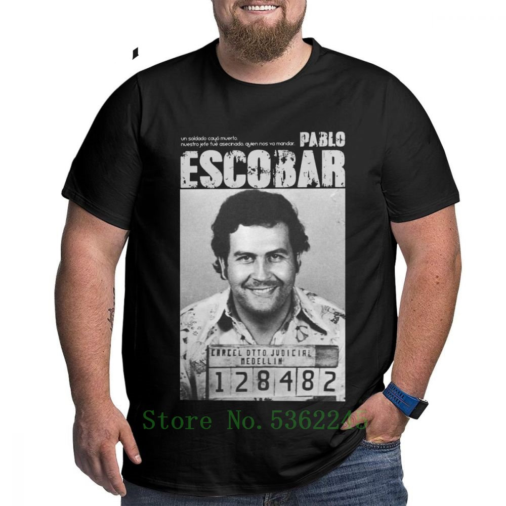 Camiseta Pablo Escobar Weed Mafia Scareface Luciano Capon, camiseta para hombre, camiseta grande alta, Camiseta de algodón de talla grande 4x 5x 6x