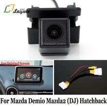 Para Mazda Demio 2 Mazda2 DJ 5 puertas puerta trasera/28 pines interfaz de cámara inversa para pantalla Original Compatible con cámara de visión trasera