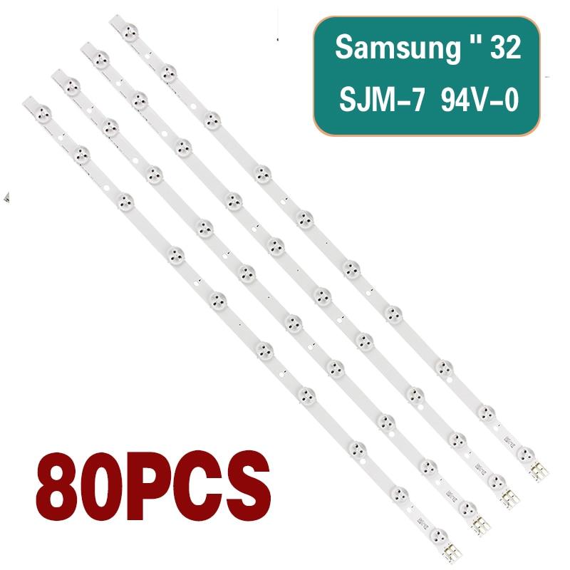 LED backlight strip is suitable for Samsung UA32EH5080R UE32EH5300 TV strip LED kit 10 lens lights 80 strips