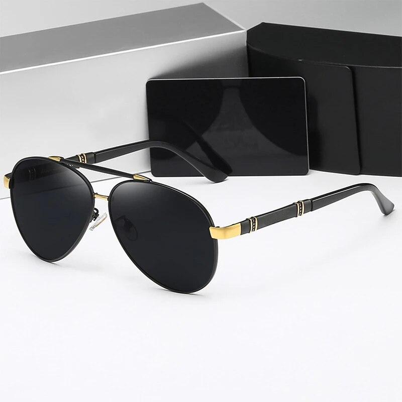 Солнцезащитные очки поляризационные для мужчин и женщин UV-400, Классические авиаторы в винтажном стиле, для вождения, 2021