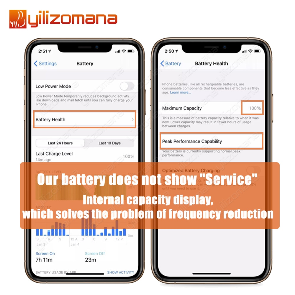 YILIZOMANA Original Phone Battery For iPhone 5s For iPhone 6 6s 7 8 Plus SE X XR XS 11 Pro Max Replacement Bateria enlarge