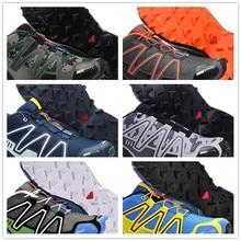 Topsell hombres 3 zapatos casuales negro rojo blanco cómodo zapatillas de deporte de respiración zapatos de moda al aire libre EUR tamaño 39-46 Speedcros