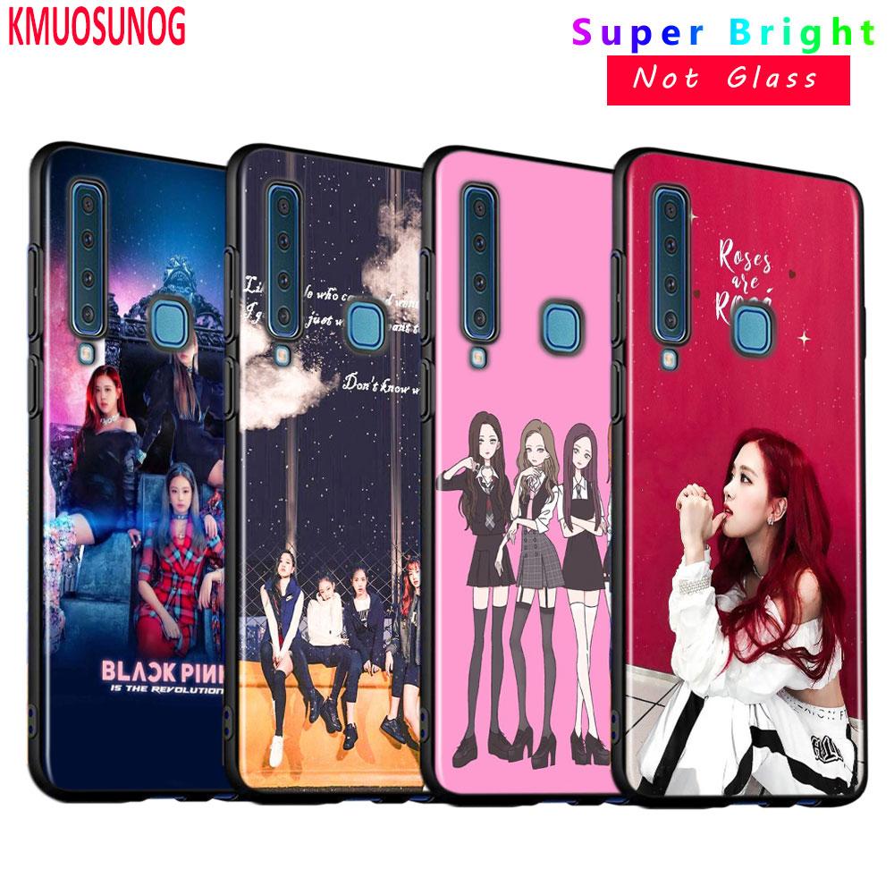 Negro funda de silicona BLACKPINK kpop para Samsung Galaxy A9 A7 2018 A8 A6 más A5 A3 2017 teléfono 2016 caso