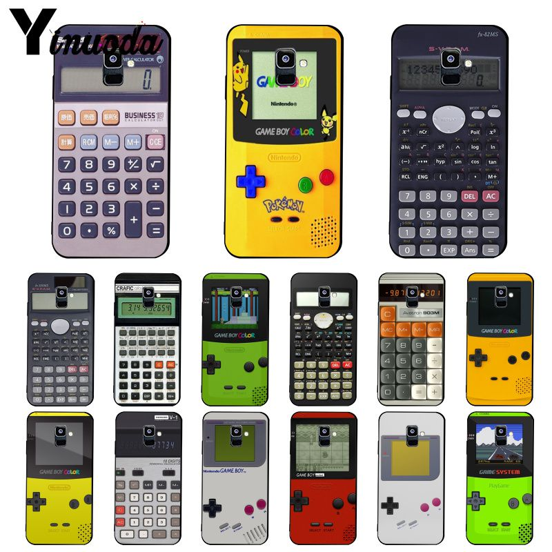 Yinuoda Gameboy Game Boy Calculator    Phone Case For Samsung Galaxy A7 A50 A70 A20 A30 A40 A8 A6Plus A8Plus A9 2018