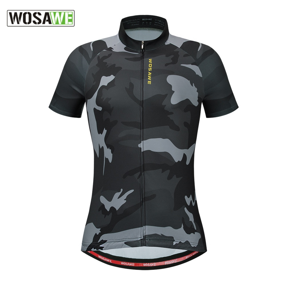 WOSAWE 2020 Camouflage Motorcycle Shirts Racing Bicycle Jersey Summer Short Sleeve Cycle Tops Women Mans Bike Motorbike Clothing enlarge