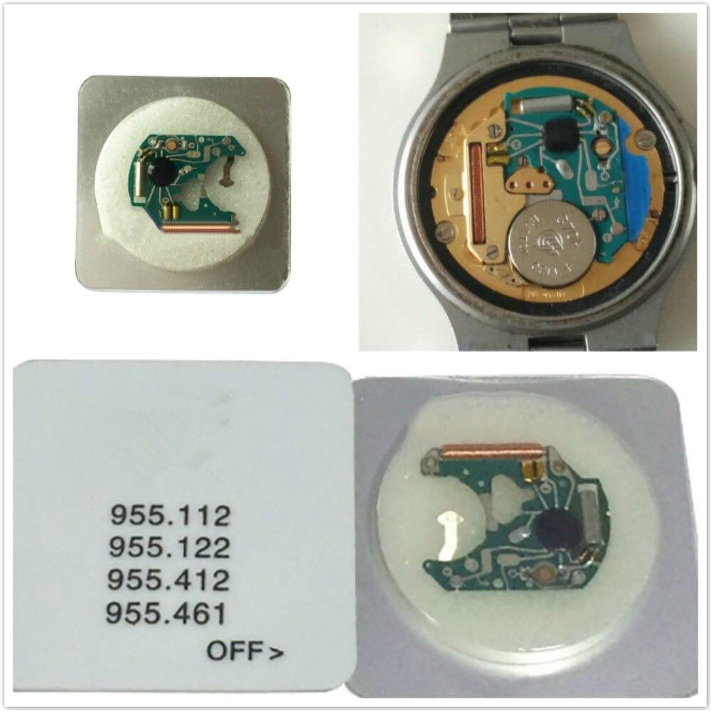 Placa de circuito de movimiento de reloj de cuarzo para ETA 955.122 955.112 955.412 955.461 Chip de reemplazo de movimiento placa PCB