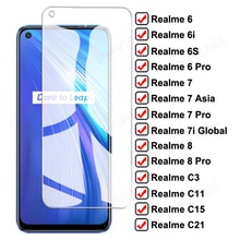 9D Full Protective Glass For Realme 6 7 8 Pro 6S 6i 7i Global 7 Asia Tempered Screen Protector on C3 C3i C11 C15 C21 Glass Film