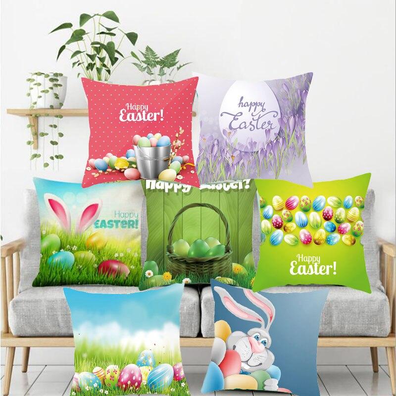 Liviorap Пасхальный кролик Чехлы Happy вечерние пасхальные украшения декоративный Пасхальный Кролик пасхальные украшения для дома