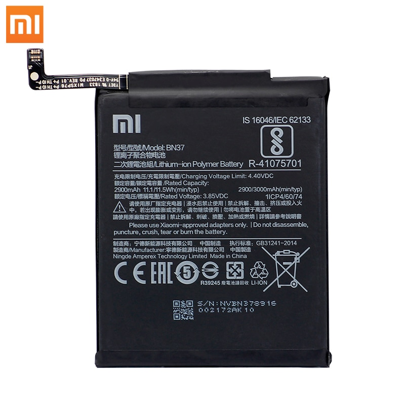 Original Xiaomi Redmi 6 Redmi6 Redmi 6A Phone Batteries BN37 High Capacity Rechargeable Phone Battery 2900mAh Free Tools AKKU enlarge