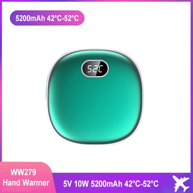 2-in-1 جهاز تدفئة محمول قوة البنك المحمول امدادات الطاقة ذكي شاشة ديجيتال ثلاث سرعات تعديل درجة الحرارة سخان الشتاء