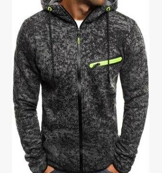 Men Sports Casual Wear Zipper  Fashion Tide Jacquard Hoodies Fleece Jacket Fall Mens sweatshirts Autumn Winter Coat M-3XL