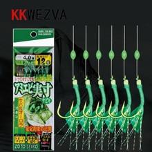 5 pack 30pcs/lot Shrimp Soft Lure Fishing Artificial Bait With Glow Hook Swivels Anzois Para Pesca Sabiki Rigs Fishing Lure