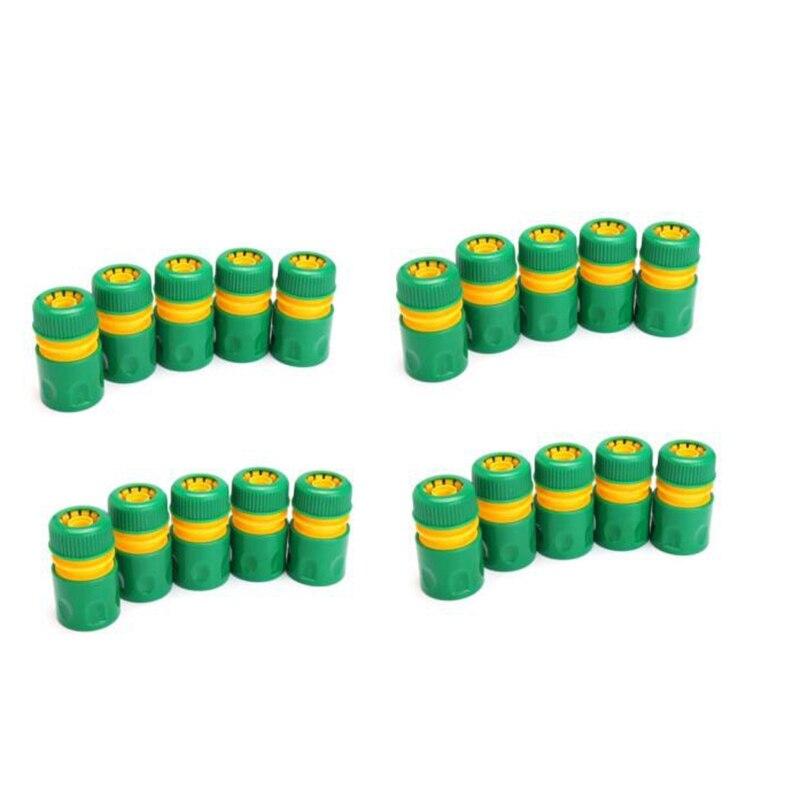 20 peça mangueira jardim torneira da tubulação de água conector conexão rápida adaptador acessórios rega 1/2 Polegada