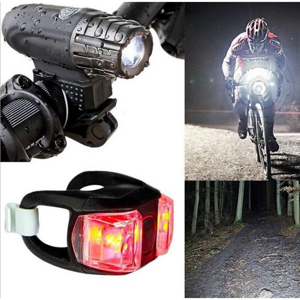 Faros delanteros de bicicleta fiables y durables, luces de advertencia recargables por USB y luces traseras, luces LED impermeables para bicicleta