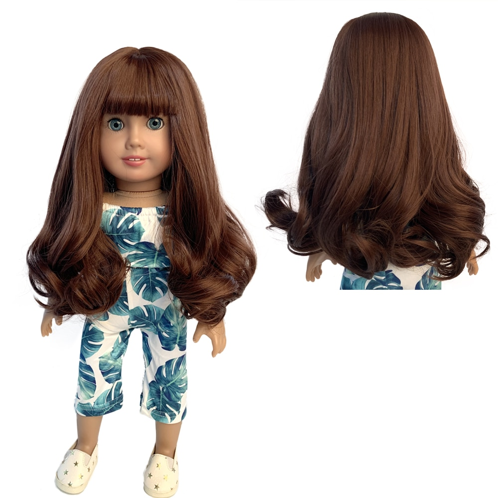American doll Wigs Clothes Fits 18 inch Dolls Like Our Generation My Life American Doll wig Accessories Outfits doll accessories cute pajamas nightgown clothes for 18 inch american girl boy doll our generation