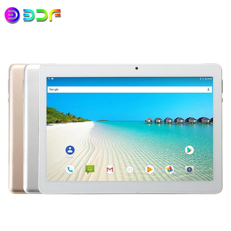Nueva tableta de 10,1 pulgadas Android 9,0 3G llamada telefónica 2GB + 32GB ROM Quad Core Bluetooth 4,0 Wi-FI 2.5D pantalla de acero Tablet PC + teclado