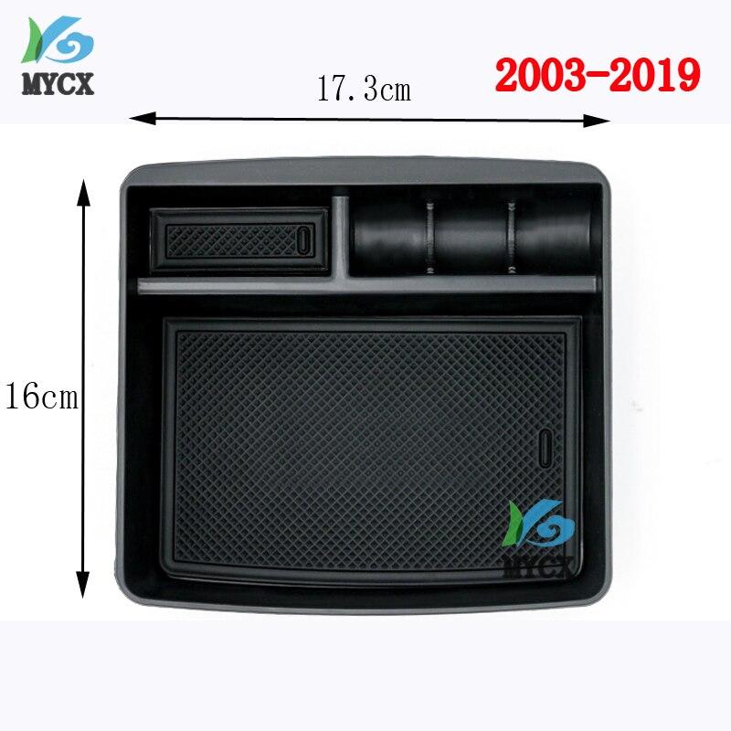 2003-2019 consola Central del reposabrazos del coche organizador caja de almacenamiento para Toyota Land Cruiser Prado FJ150 120 FJ120 FJ 120 Accesorios