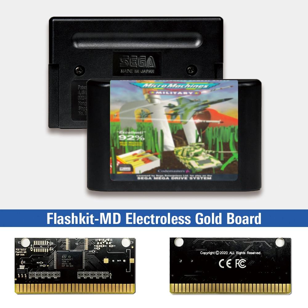 Micromáquinas militares, etiqueta europea, Flashkit, MD, tarjeta PCB de oro electrochapado para...